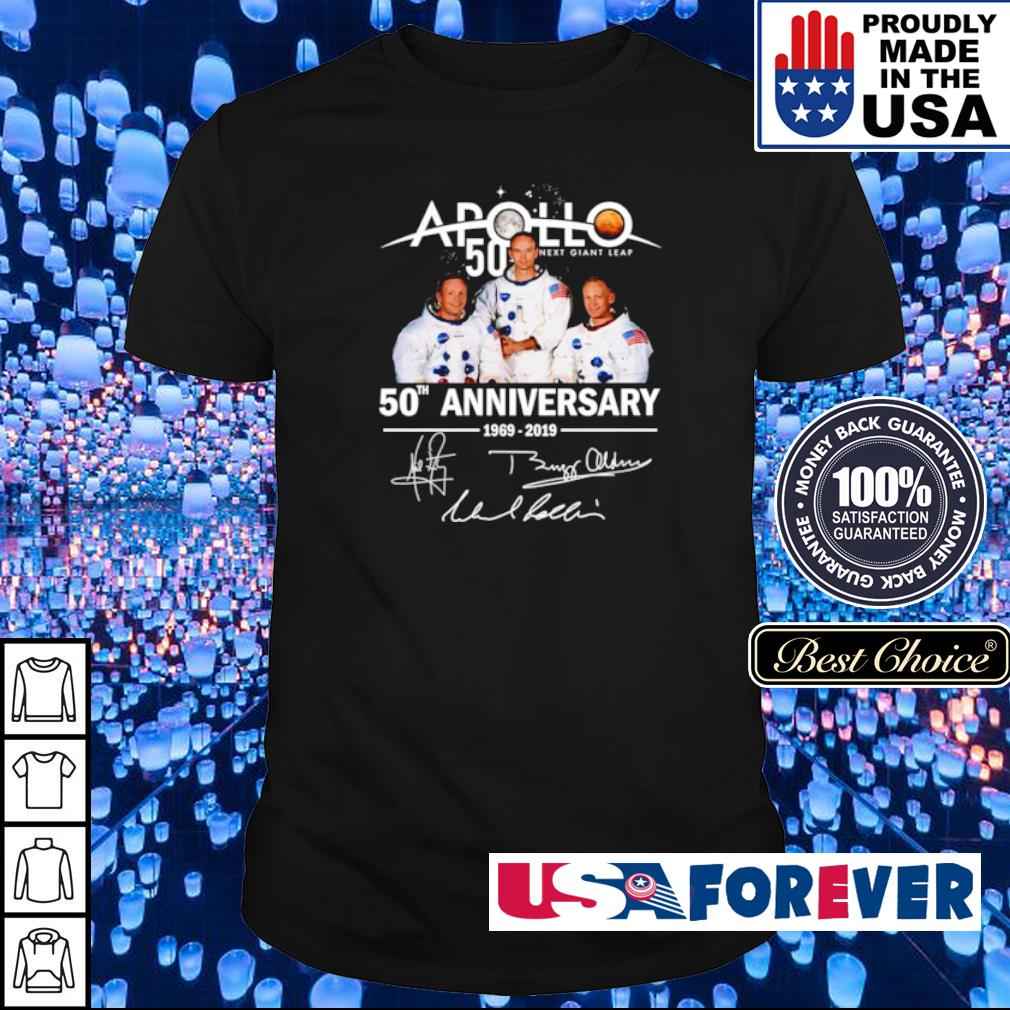 Apollo 11 50th anniversary signatures shirt