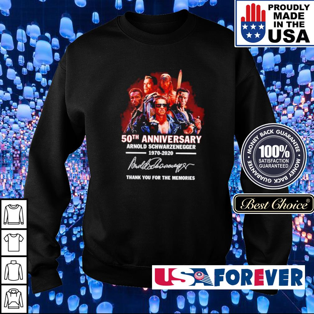 Arnold Schwarzenegger 50th anniversary thank you for the memories s sweater