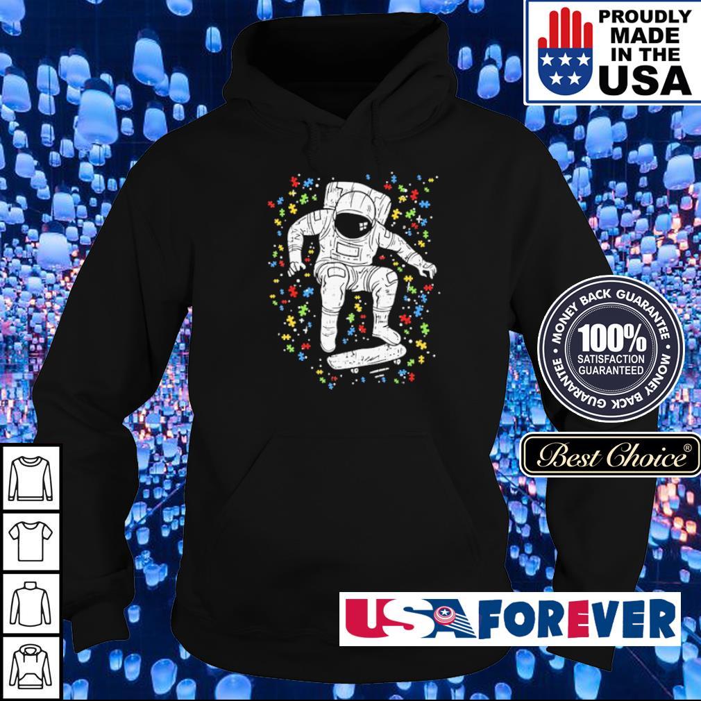 Autism awareness astronaut skateboard s hoodie