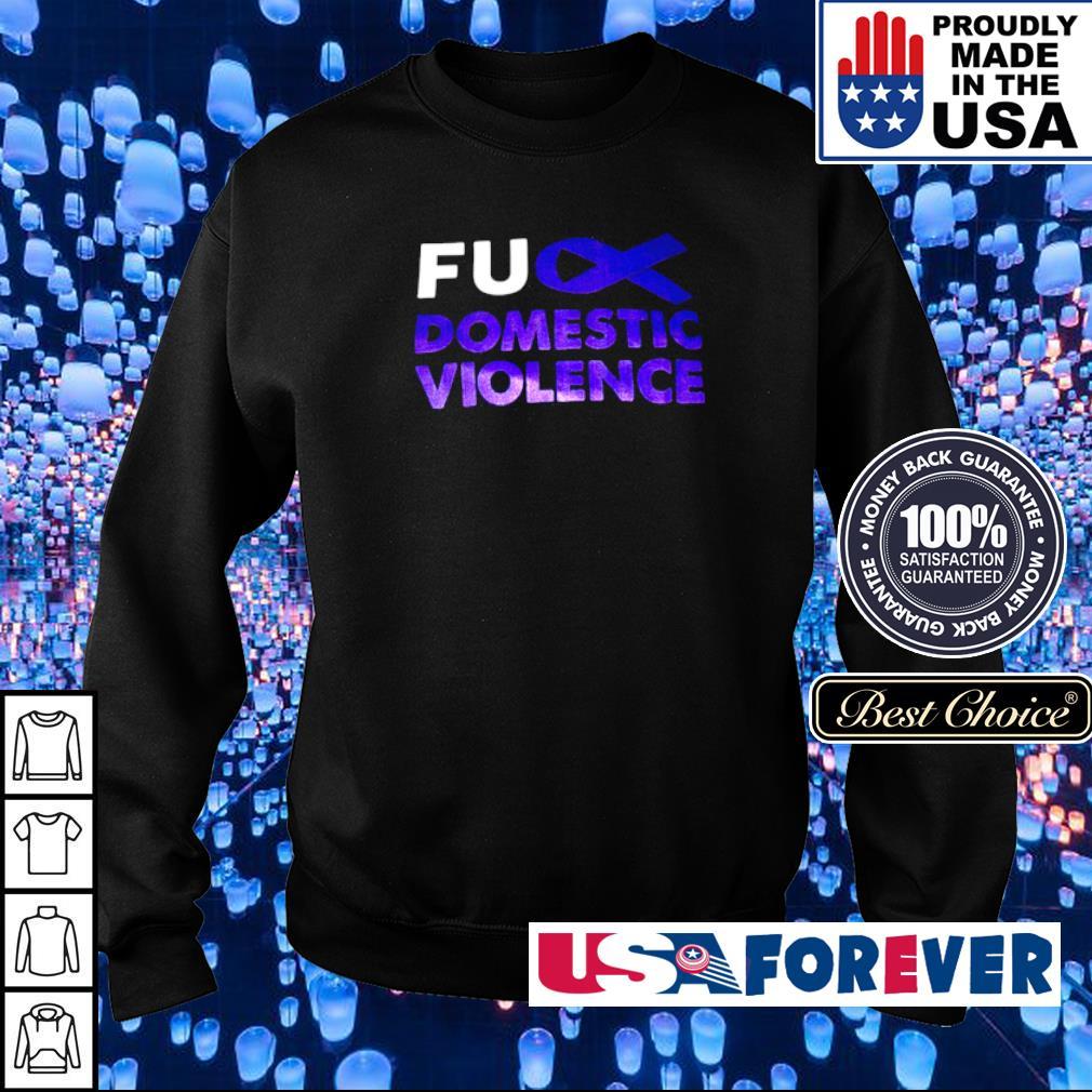 Autism awareness fuck domistic violence s sweater