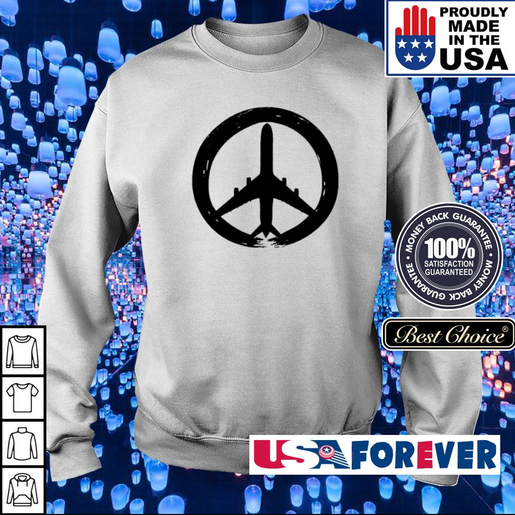 Awesome hippie logo plane s sweater
