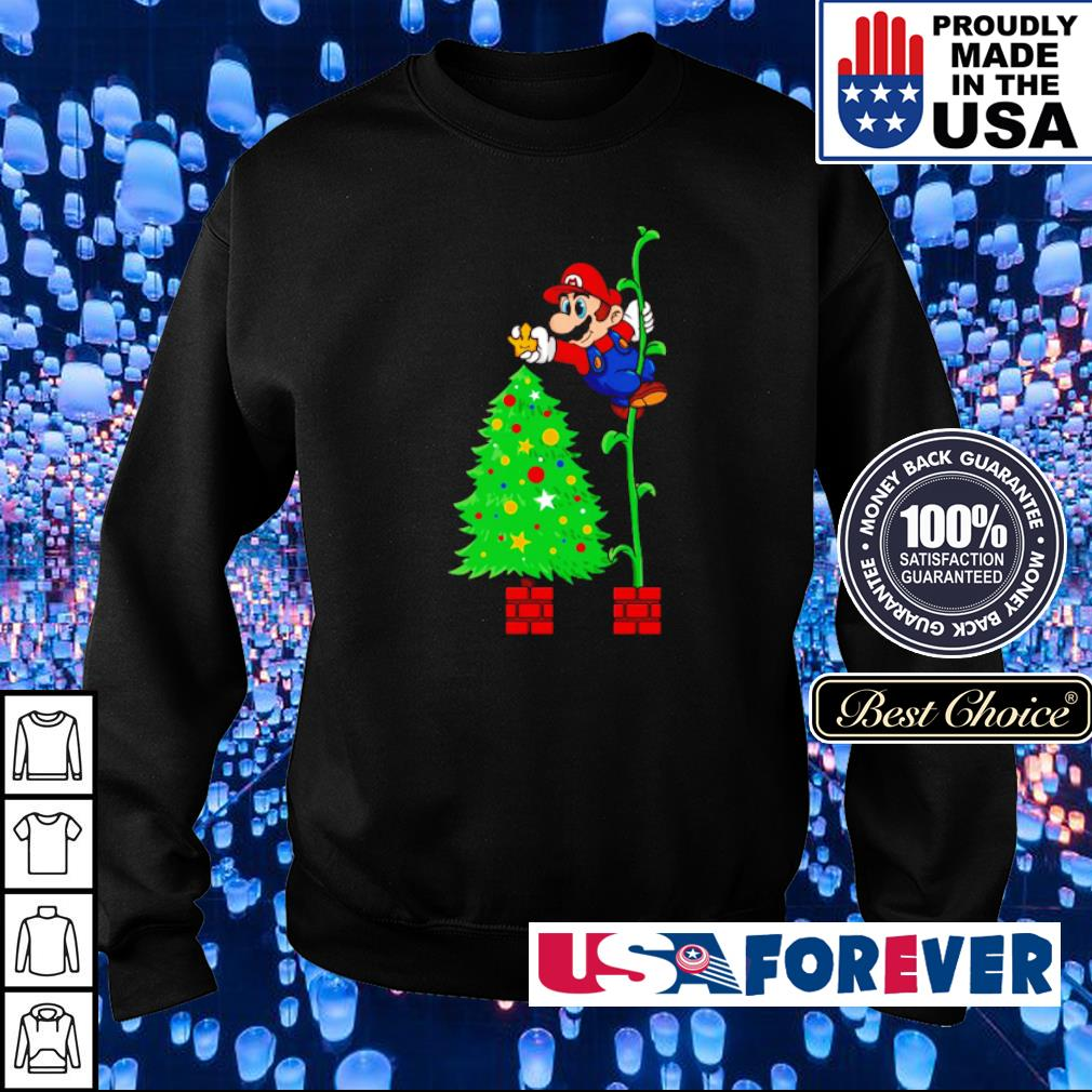 Awesome Mario and Christmas tree s sweater