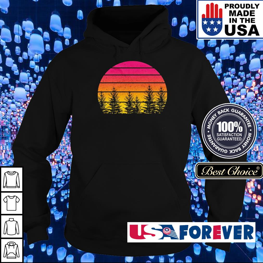 Awesome tree vintage retro s hoodie