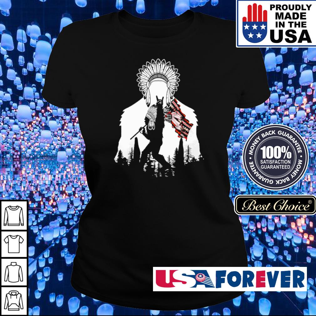 Bigfoot native American Flag s ladies