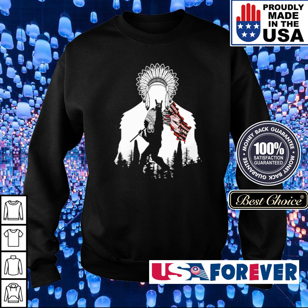 Bigfoot native American Flag s sweater