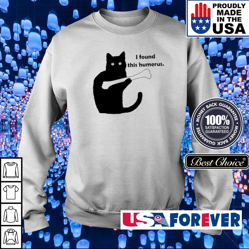 Black cat I found this humerus s sweater