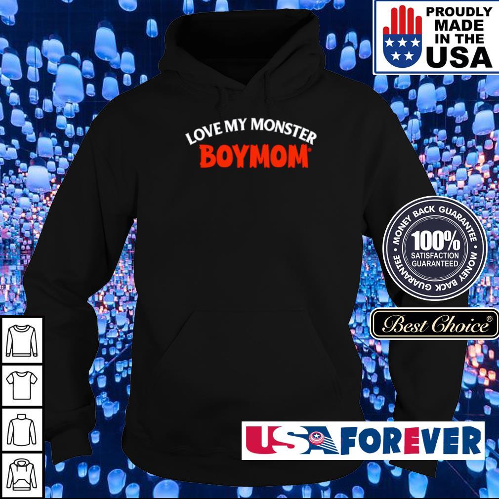 Boymom love my monster Halloween s hoodie
