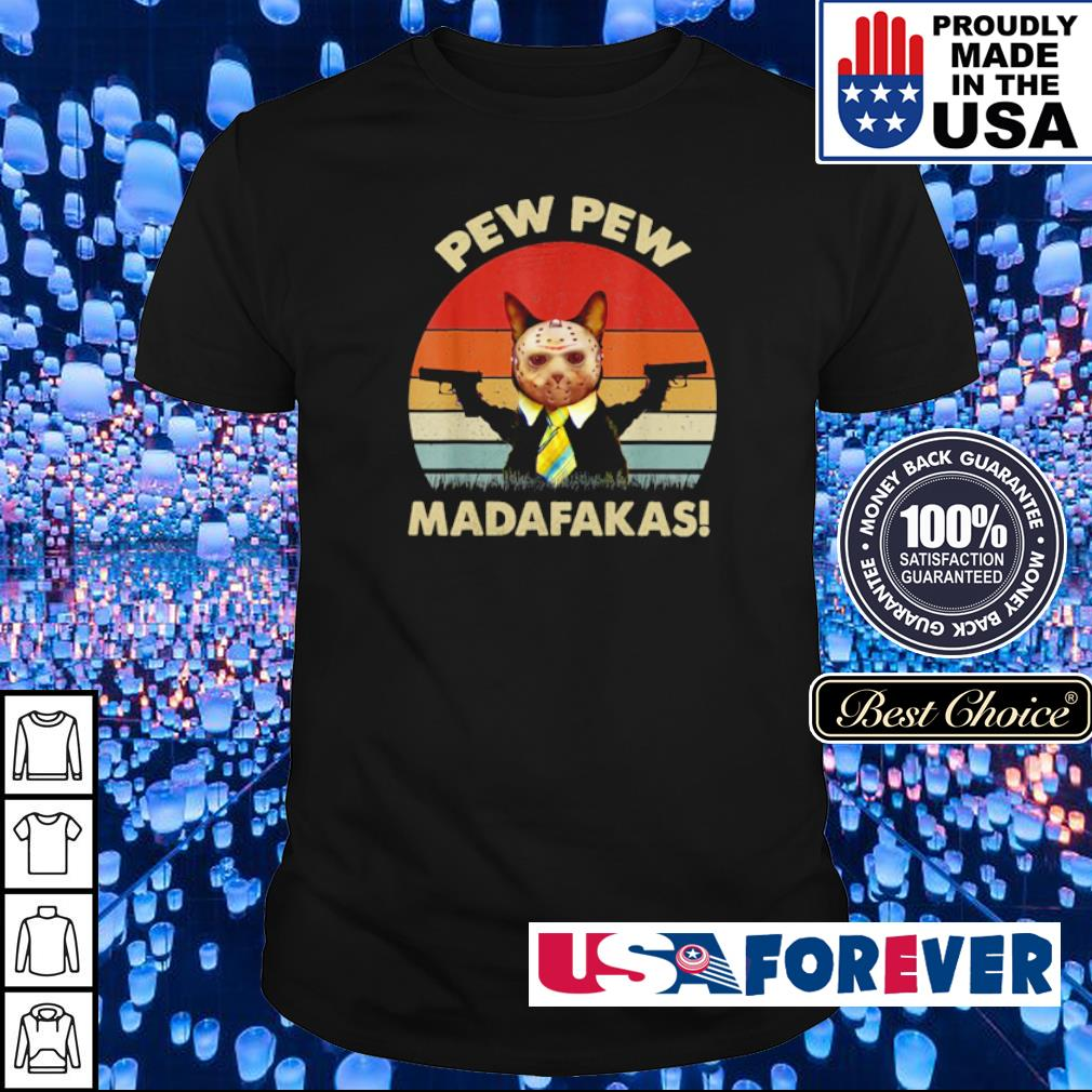 Cat Jason Voorhees pew pew madafakas shirt