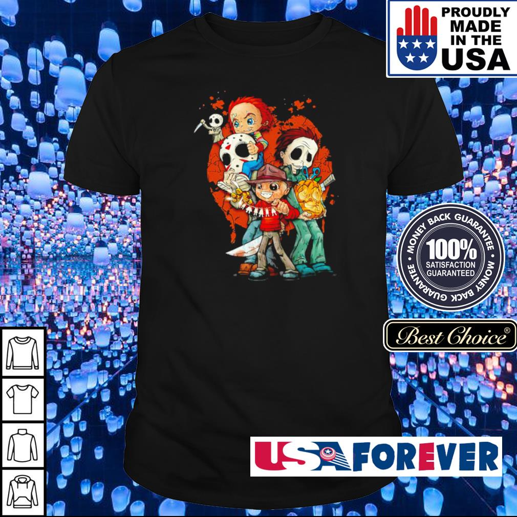 Cute chibi horror characters hapyy Halloween shirt