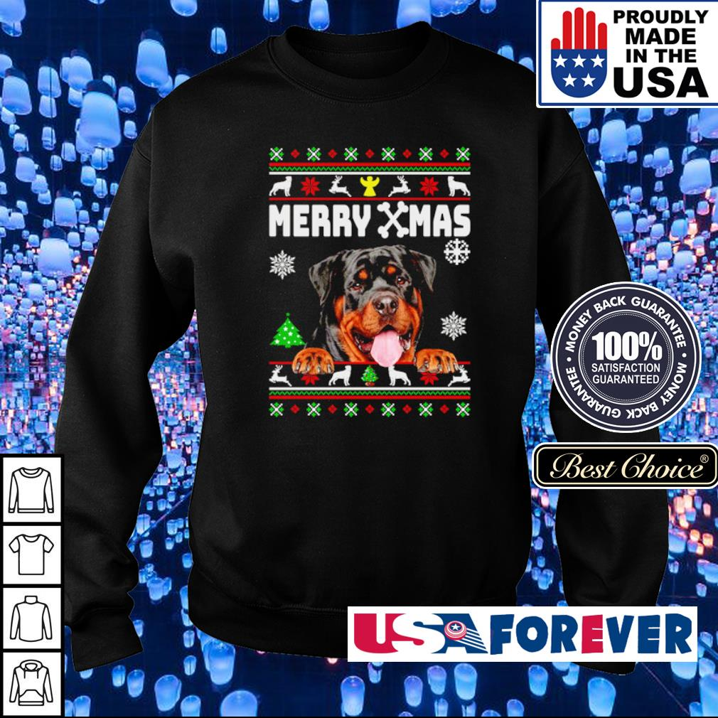 Cute rottweiler merry Xmas s sweater
