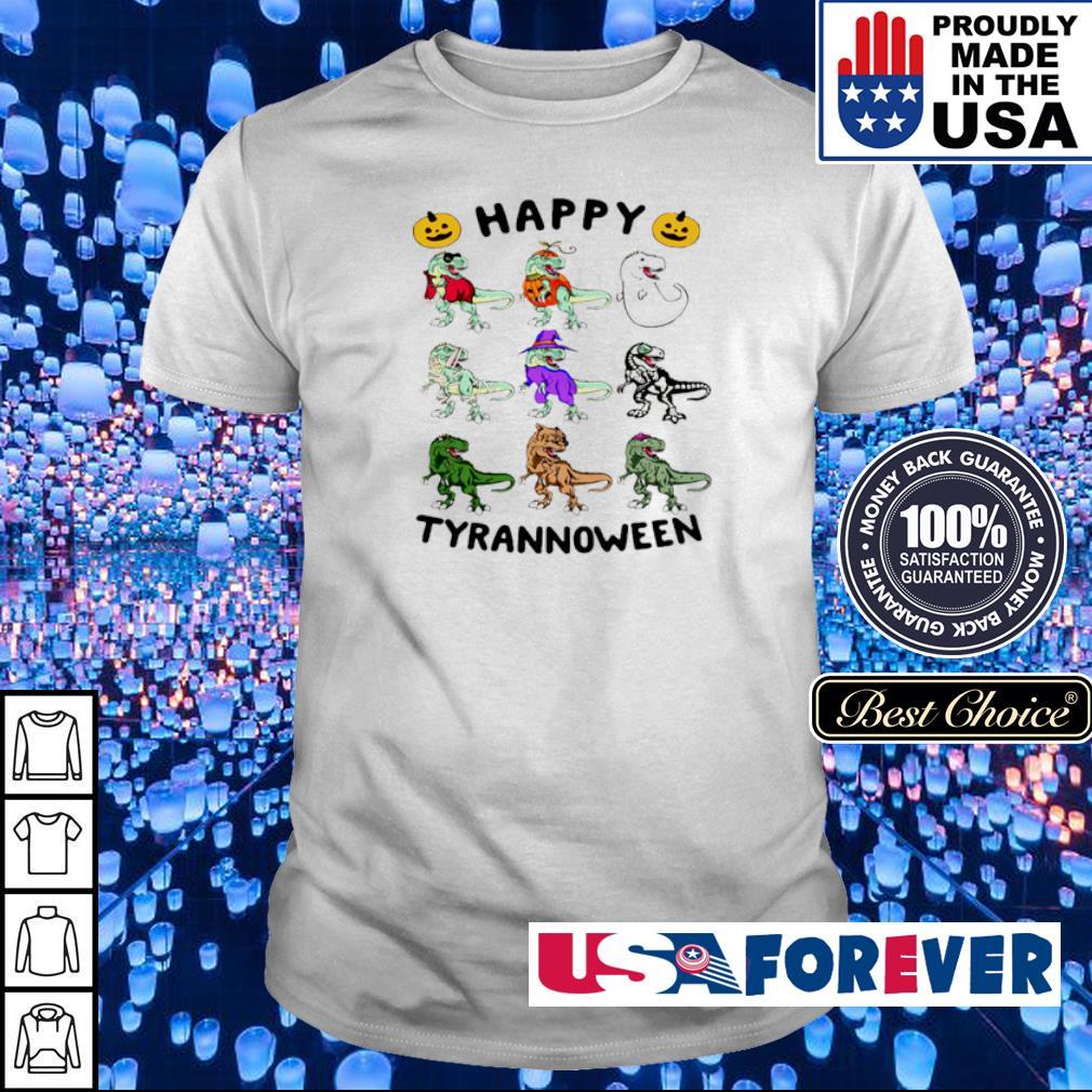 Dinosaur happy Tyrannoween Halloween shirt