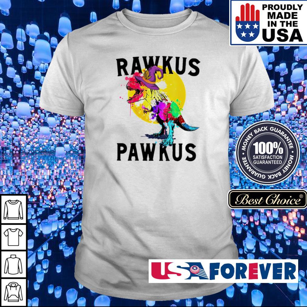 Dinosaur T Rex rawkus pawkus happy Halloween shirt