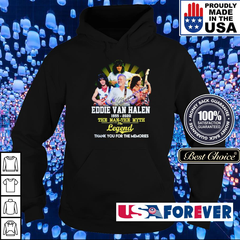 Eddie Van Halen 1955 2020 the man the myth the legend thank you for the memories s hoodie