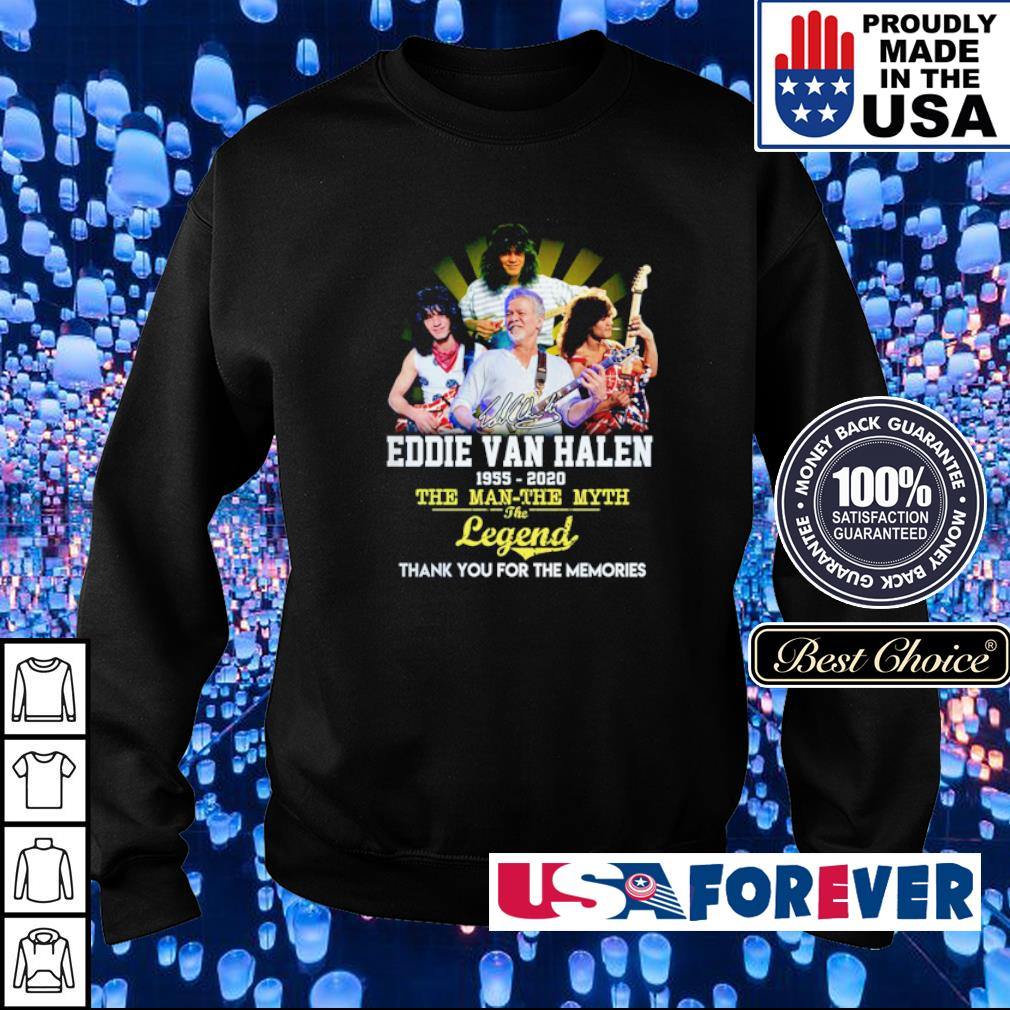 Eddie Van Halen 1955 2020 the man the myth the legend thank you for the memories s sweater