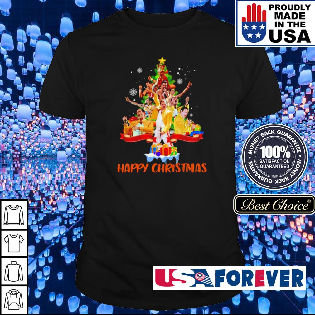Freddie Mercury happy Christmas tree shirt