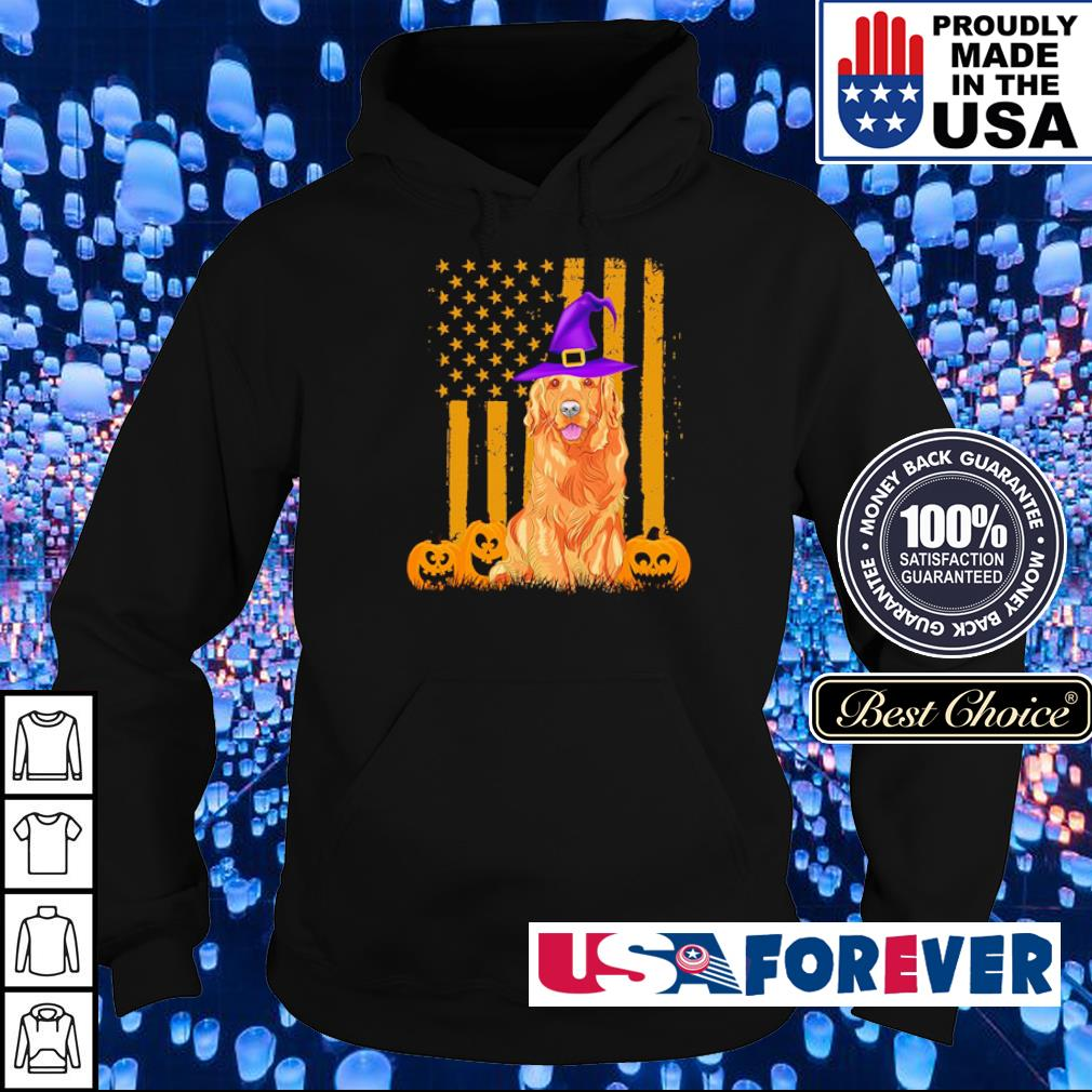 Golden Retriever American Flag happy Halloween s hoodie