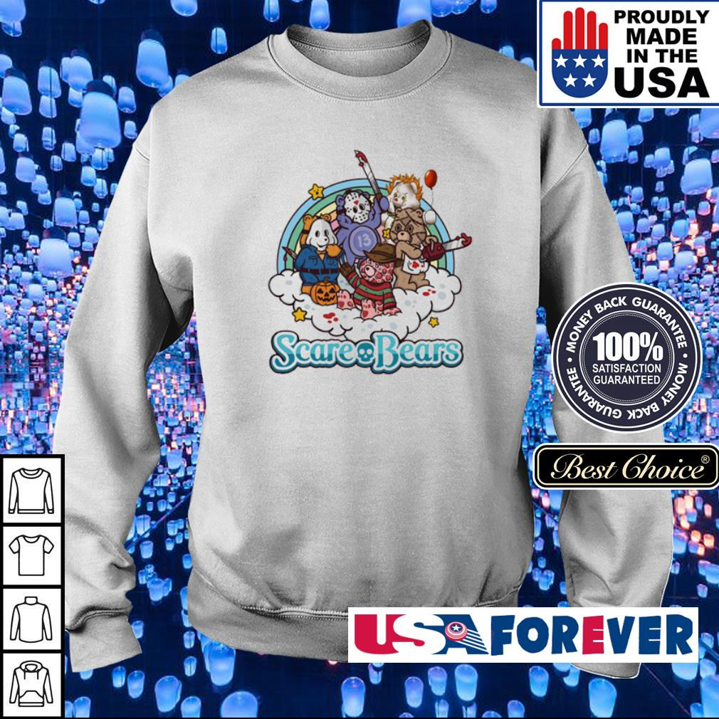Horror characters scare bears s sweater