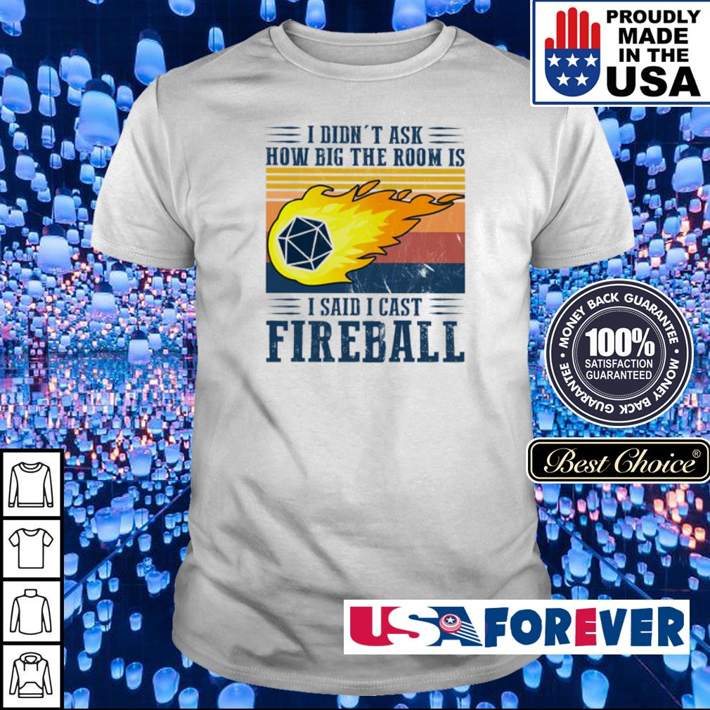 I didn't ask how big the room is I said I cast fireball shirt