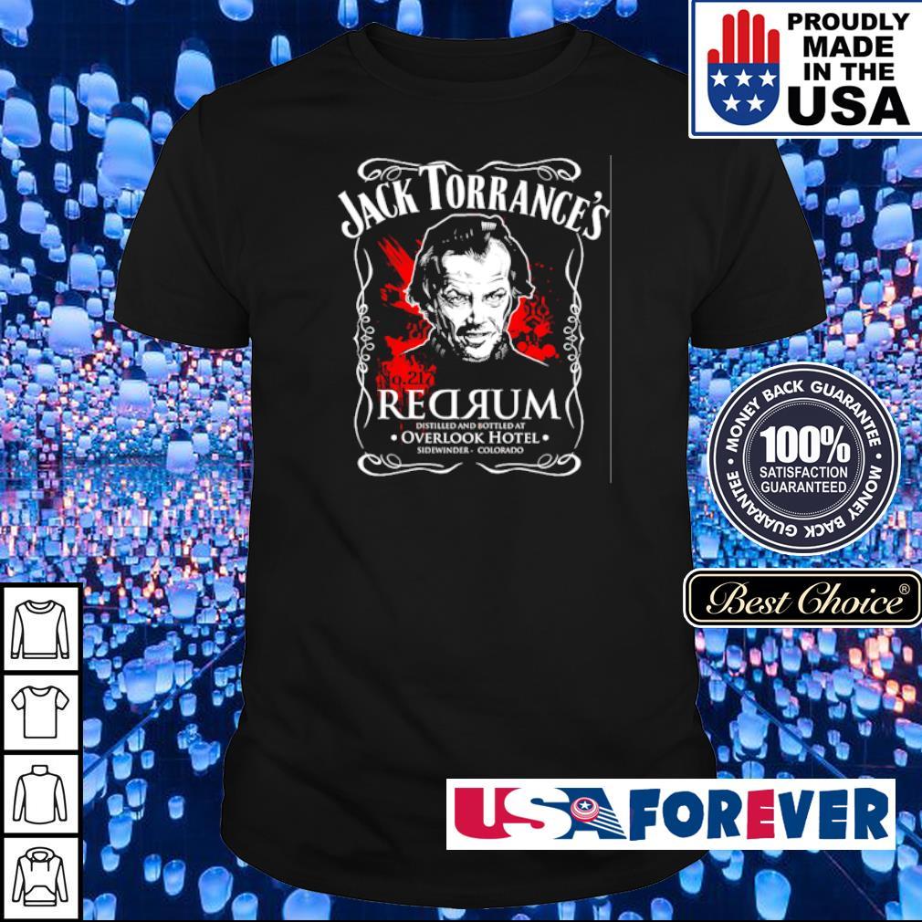 Jack Torrance's redrum distilled bottle at Overlock Hotel shirt