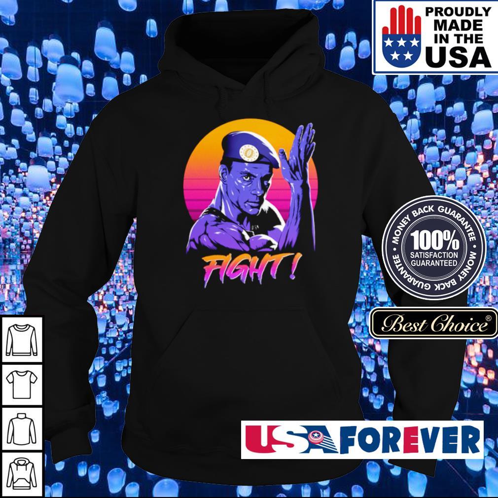 Jean Claude Van Damme fight retro sun s hoodie
