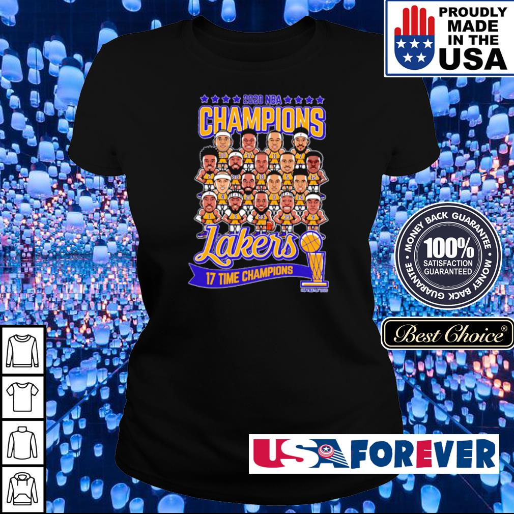 Los Angeles Lakers 2020 NBA 17 time champions champions ladies