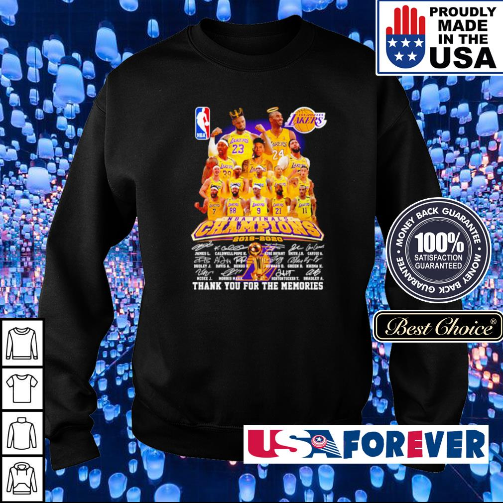 Los Angeles Lakers champions 2019 2020 thank you for the memories s sweater