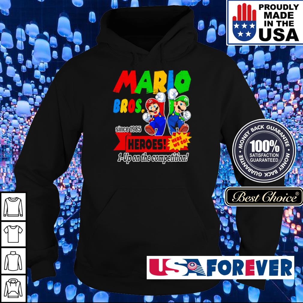 Mario bros since 1985 heroes up on the competition s hoodie