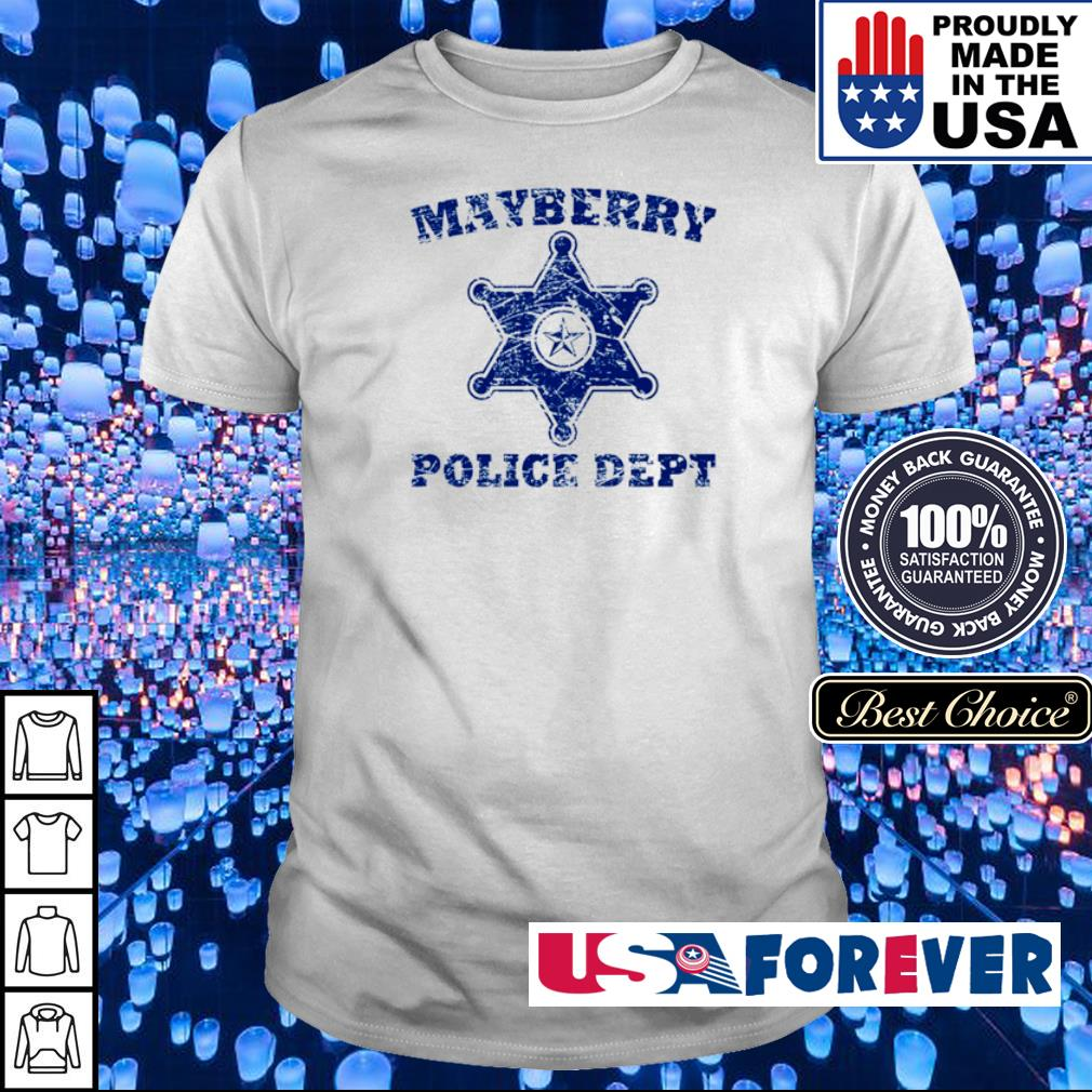 Mayberry police dept shirt