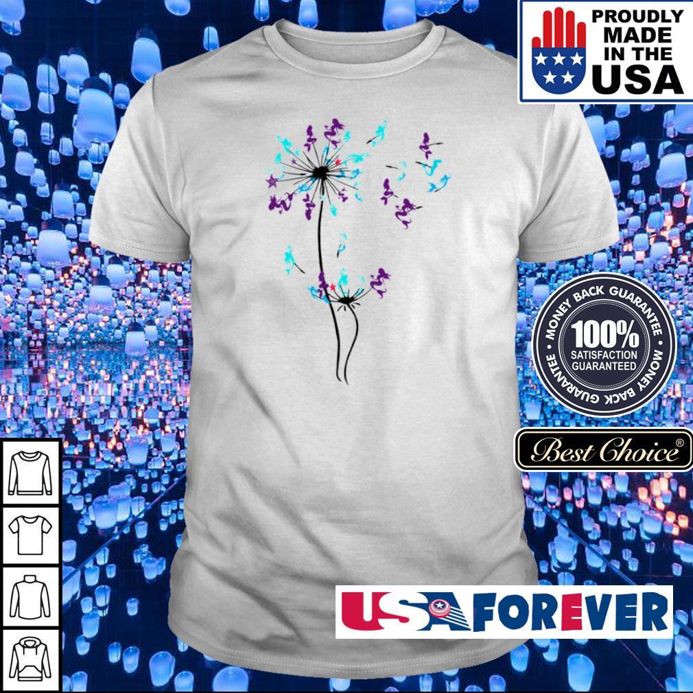 Mermaid dandelion cartoon shirt