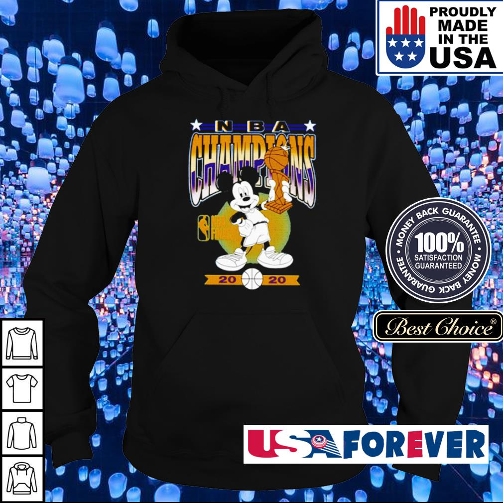 Mickey Mouse Angeles Lakers 2020 NBA champions trophy s hoodie