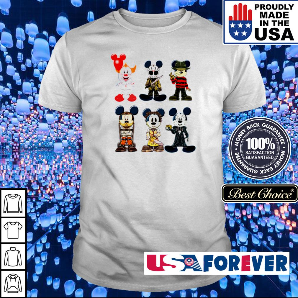 Mickey Mouse in horror characters costume shirt
