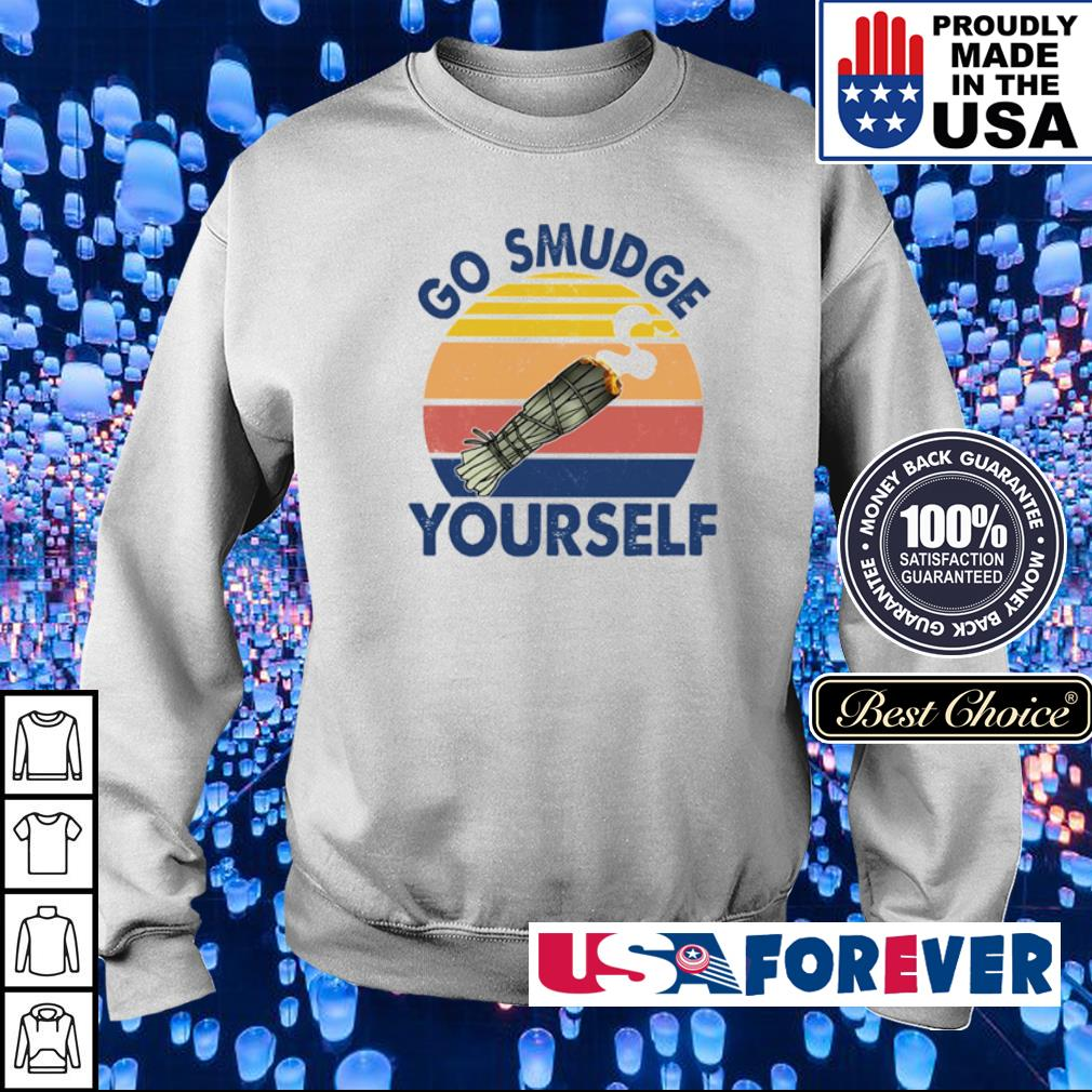 Native American go smudge yourself vintage s sweater