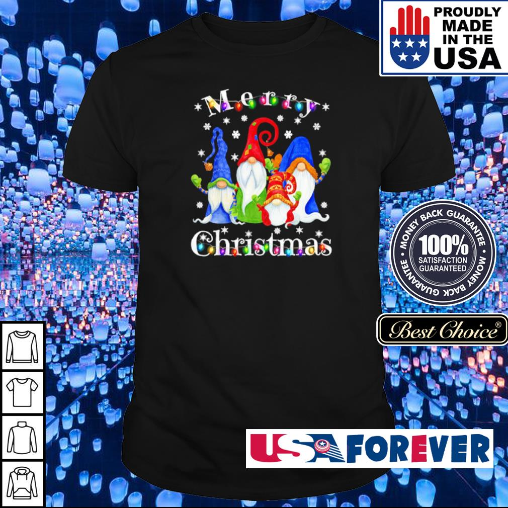 Official Gnome merry Christmas shirt