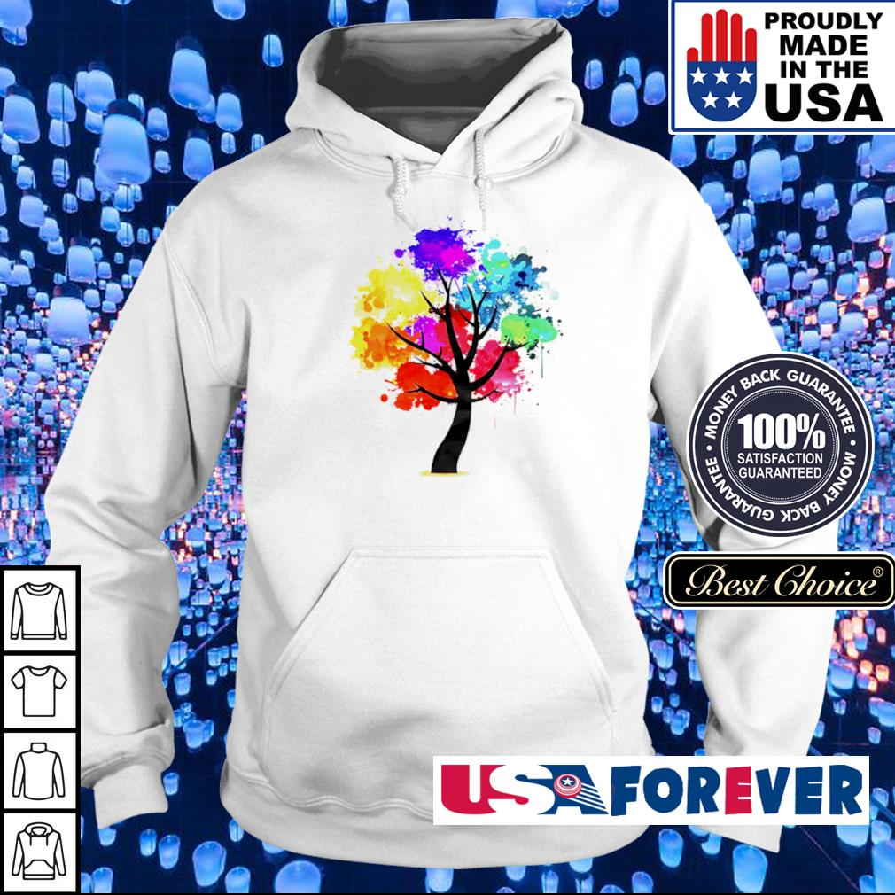 Official rainbow tree s hoodie