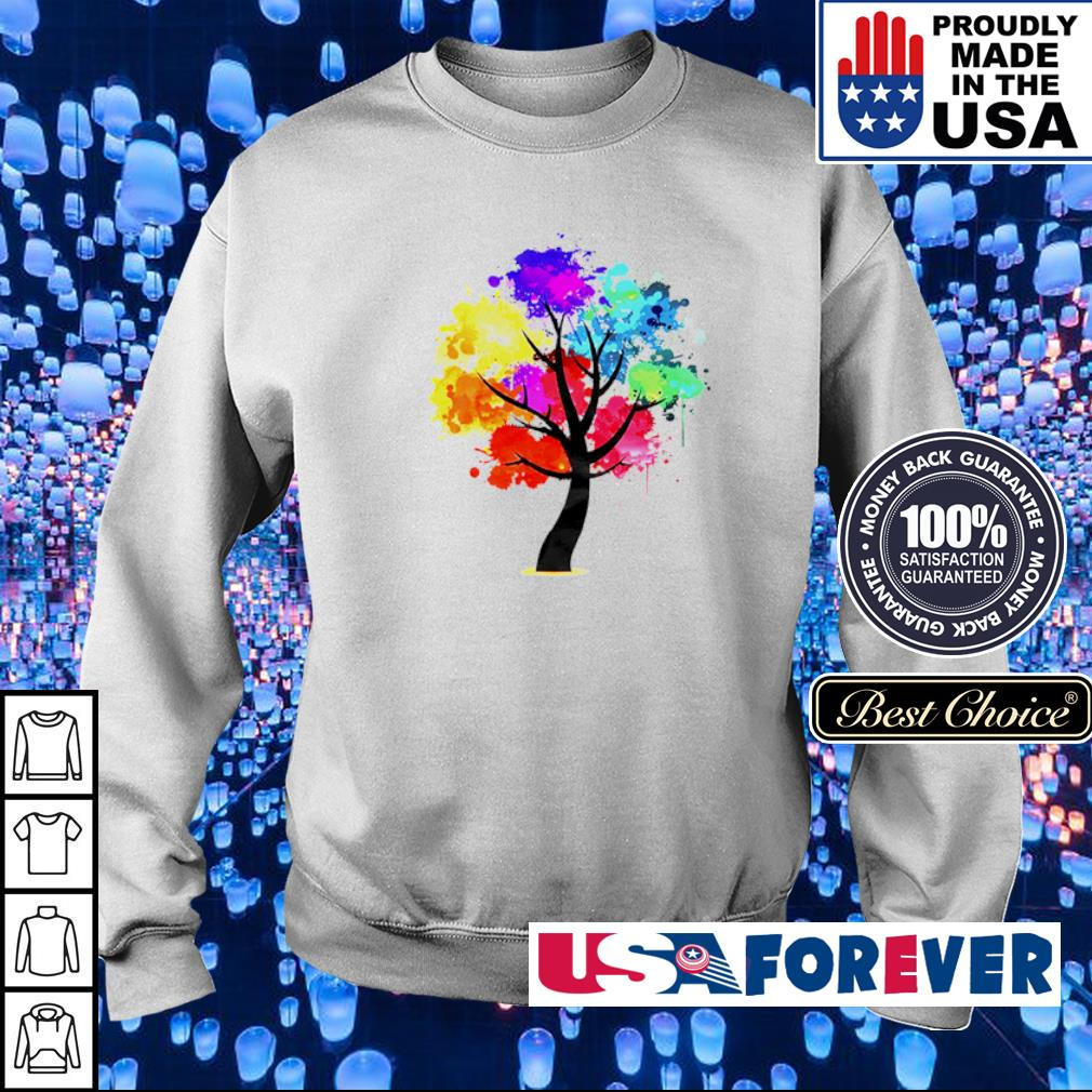 Official rainbow tree s sweater