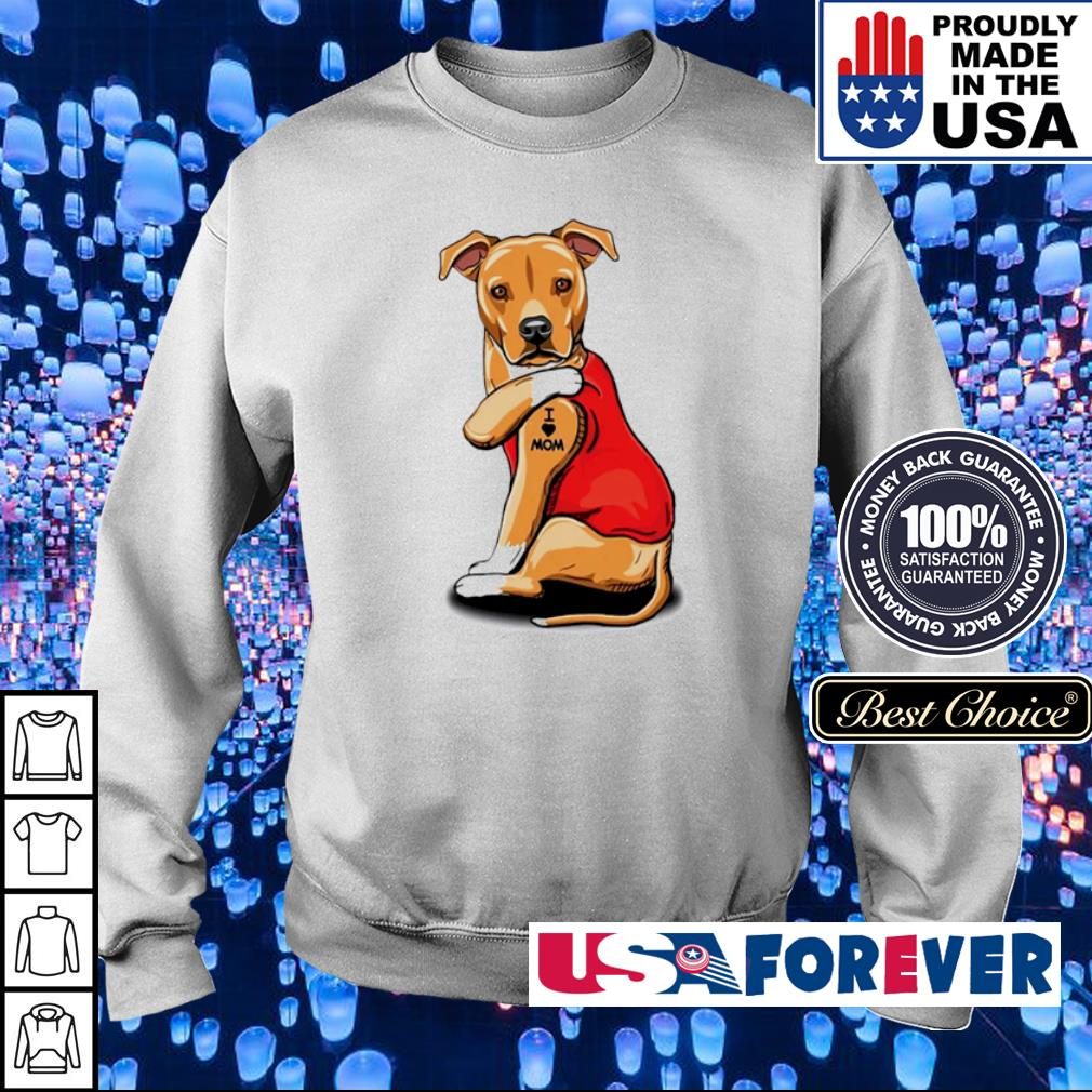 Pit Bull Terrier tattoo I love mom s sweater