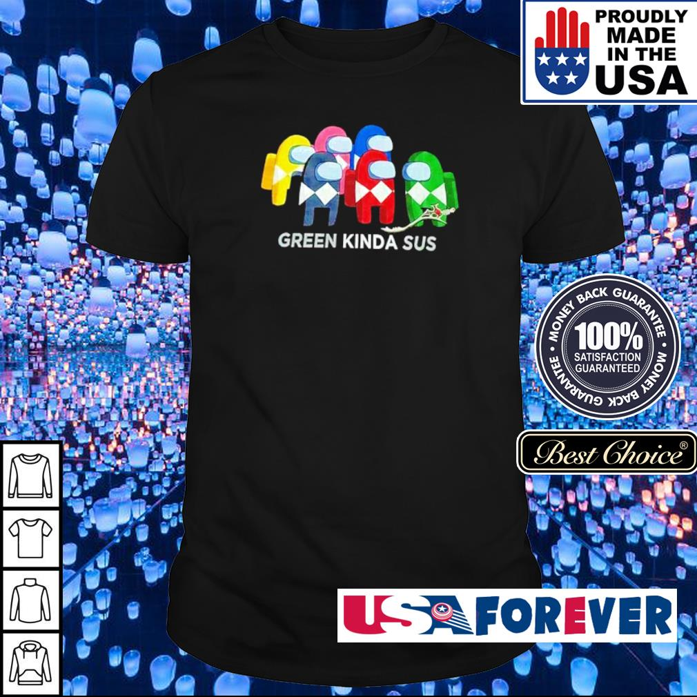 Power Rangers among us green kinda sus shirt