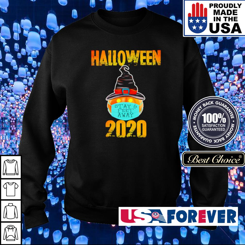 Pumpkin wearing mask stay 6 feet away Halloween 2020 s sweater