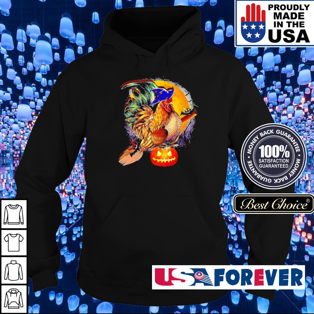 Rooster witch happy Halloween s hoodie