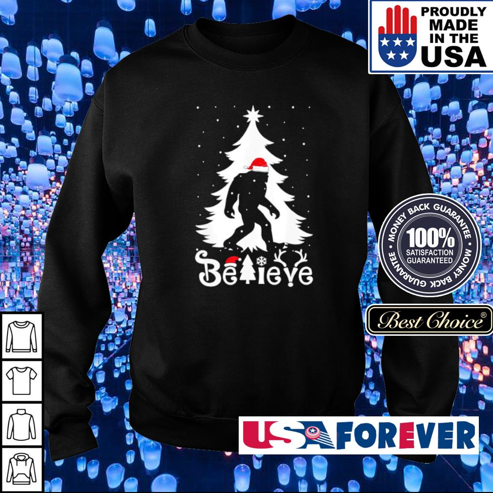 Santa bigfoot believe merry Christmas s sweater