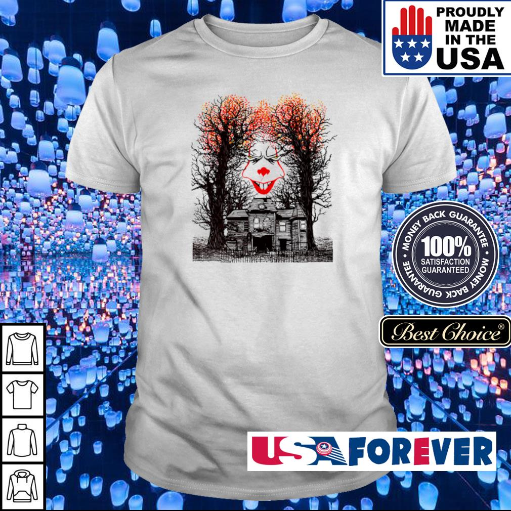 Scary IT Pennywise face happy Halloween shirt