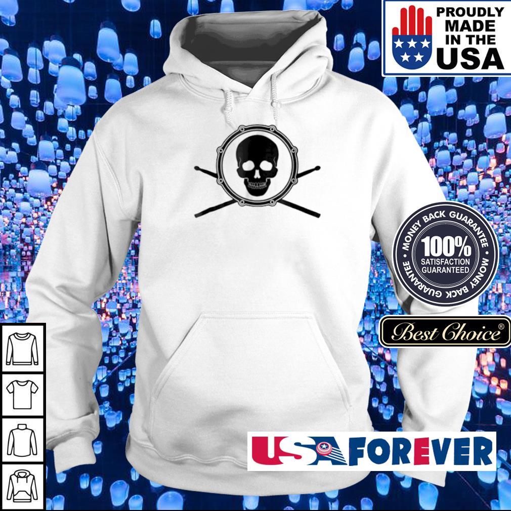 Skull and drumsticks drummer s hoodie