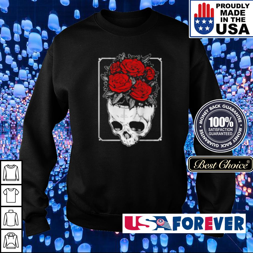 Skull and roses something on my mind s sweater