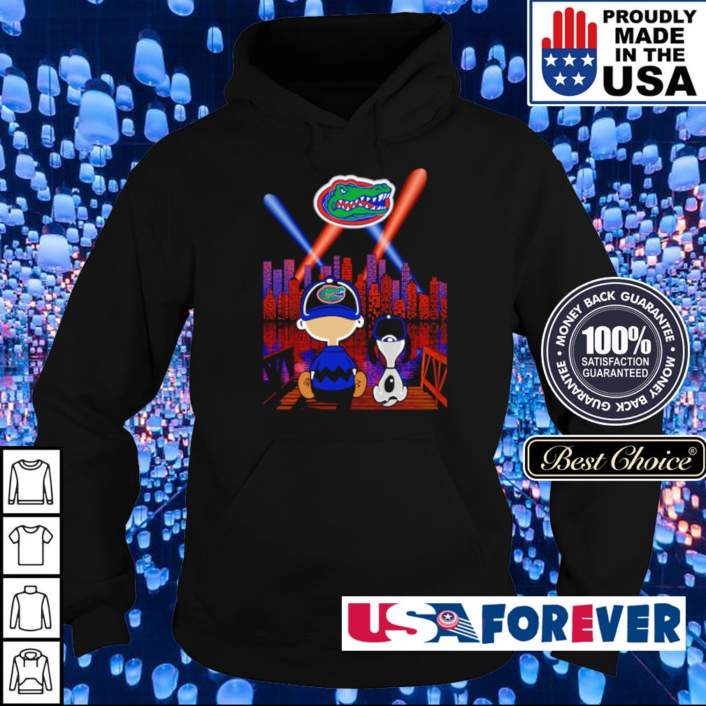 Snoopy and Charlie Brown watching Florida Gators city by night s hoodie