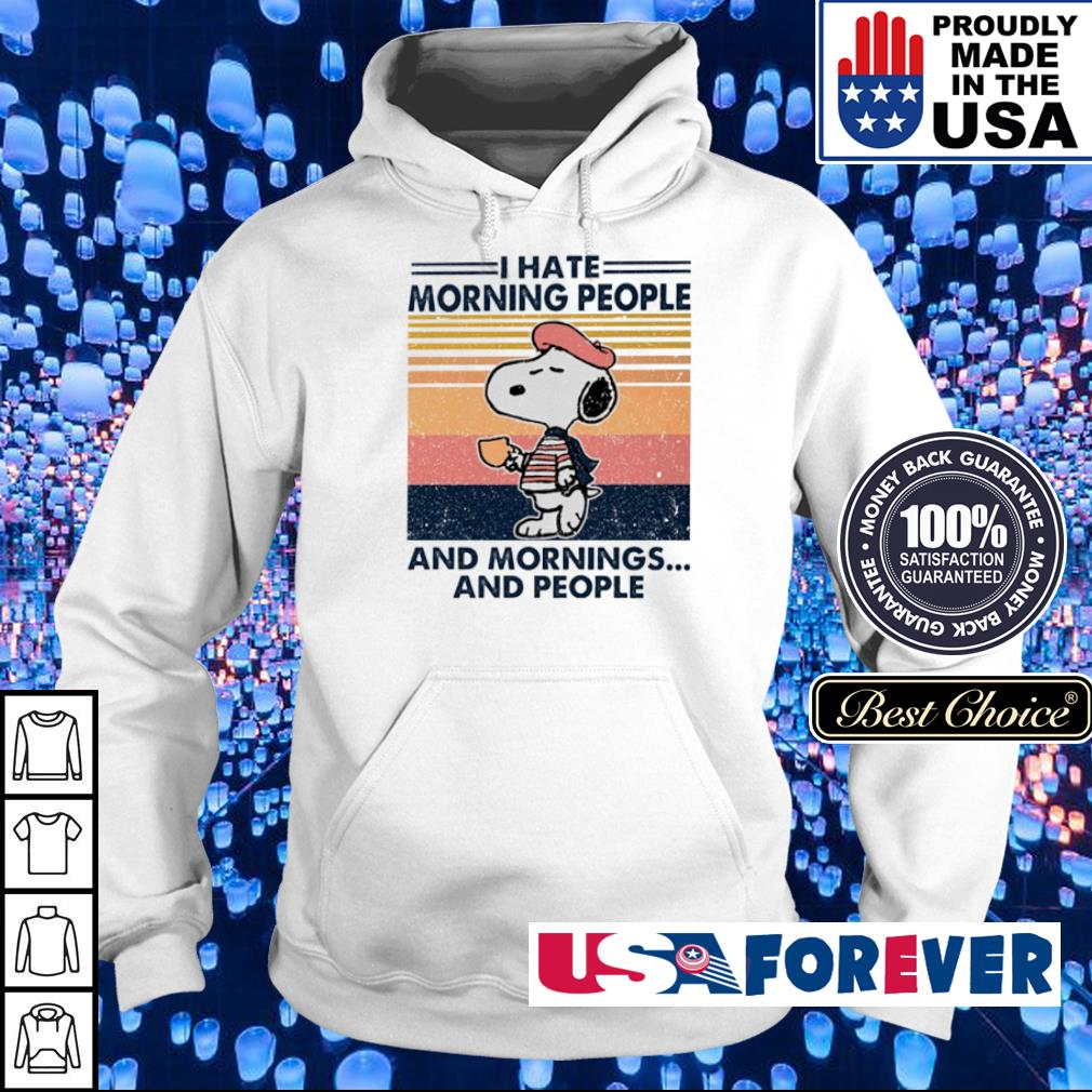 Snoopy I hate morning people and mornings and people vintage s hoodie