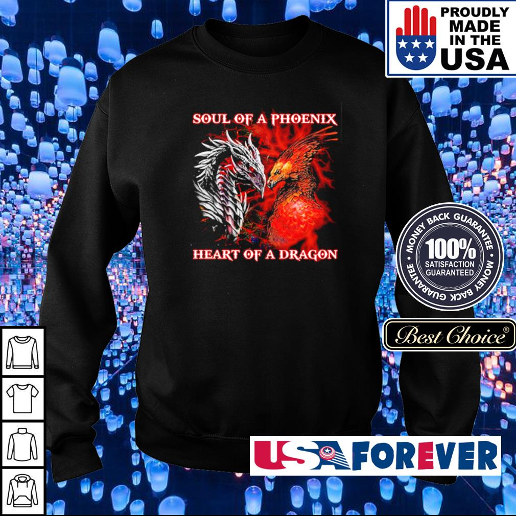Soul of a phoenix heart of a dragon s sweater