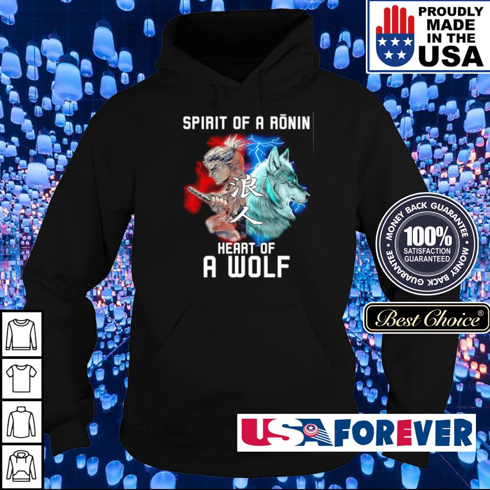 Spirit of a ronin heart of a wolf s hoodie