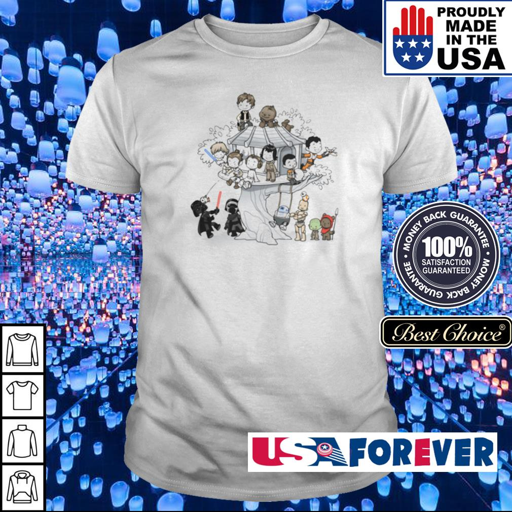 Star Wars chibi characters playing together shirt