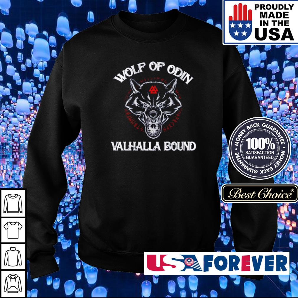 Viking wolf of Odin Valhalla bound s sweater