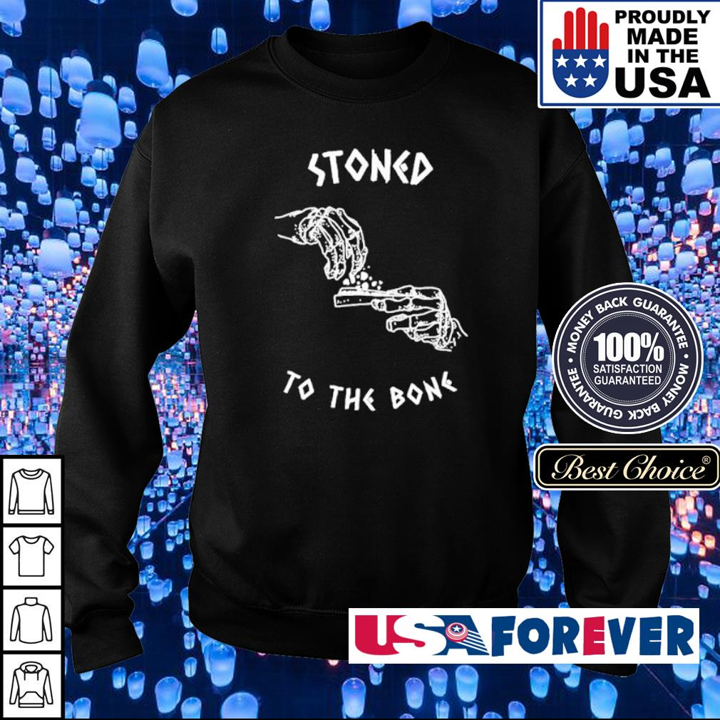 Weed lover stoned to the bone Halloween s sweater